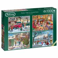 Family Time Christmas (4 x 1000pc) (JUM11269), a 1000 piece jigsaw puzzle by Jumbo and artist Vic McLindon. Click to view this jigsaw puzzle.