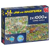Food Festival (2 x 1000pc) (JUM19099), a 1000 piece jigsaw puzzle by JumboArtist Jan van Haasteren. Click to view this jigsaw puzzle.