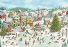 Playful Christmas Day (RB15290-2), a 1000 piece jigsaw puzzle by Ravensburger. Click to view this jigsaw puzzle.