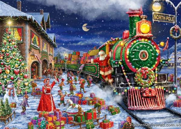 Santa's Delivery (2 x 1000pc) (JUM11268), a 1000 piece jigsaw puzzle by Jumbo.