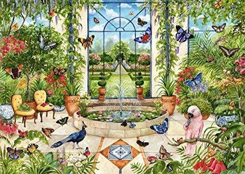 Butterfly Conservatory (JUM11255), a 1000 piece jigsaw puzzle by Jumbo.