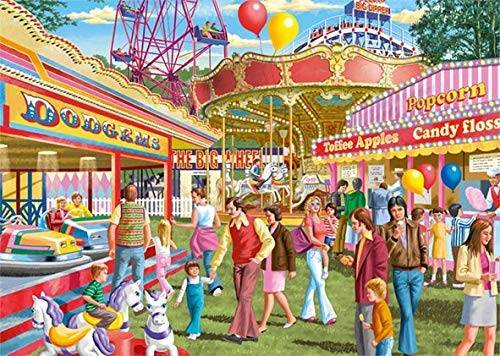 Fun at the Fair (Large Pieces) (JUM11251), a 500 piece jigsaw puzzle by Jumbo.