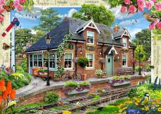 Railway Cottage (Large Pieces) (HOL771745), a 500 piece jigsaw puzzle by Holdson and artist Howard Robinson. Click to view this jigsaw puzzle.