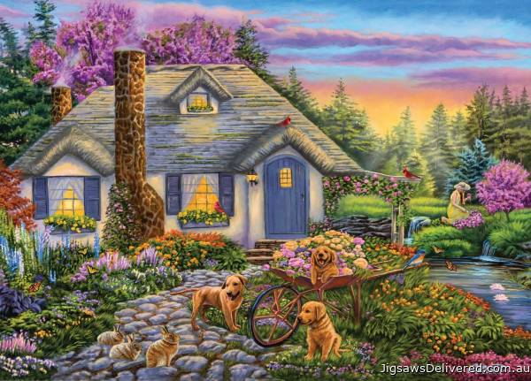 Morning Glory (Moments and Memories) (HOL772025), a 1000 piece jigsaw puzzle by Holdson.