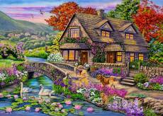 Swan Creek Cottage (Moments and Memories) (HOL772032), a 1000 piece Holdson jigsaw puzzle.