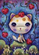 Strawberry Kitty (Dreaming) (HEY29895), a 1000 piece HEYE jigsaw puzzle.