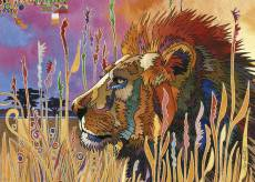 Lion Take a Break (Precious Animals) (HEY29899), a 1000 piece HEYE jigsaw puzzle.