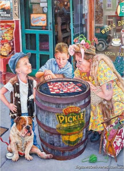Checkers (What's She Thinking?) (HOL772070), a 1000 piece jigsaw puzzle by Holdson.
