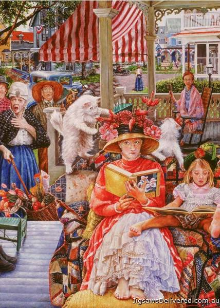 Cat in the Hat (What's She Thinking?) (HOL772063), a 1000 piece jigsaw puzzle by Holdson.