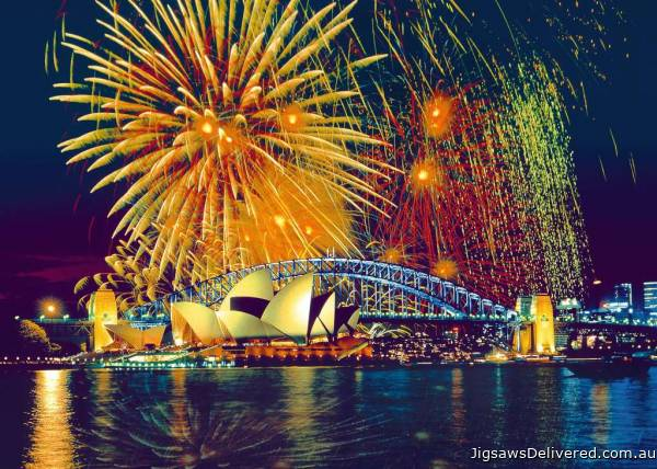 Fireworks over Sydney (1000pc) (RB16410-3), a 1000 piece jigsaw puzzle by Ravensburger.