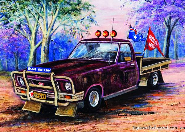 Maroon Ute (BL02046), a 1000 piece jigsaw puzzle by Blue Opal.