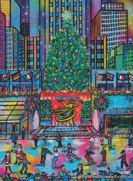 Rockefeller Park Christmas, New York (RB16424-0), a 500 piece jigsaw puzzle by Ravensburger.