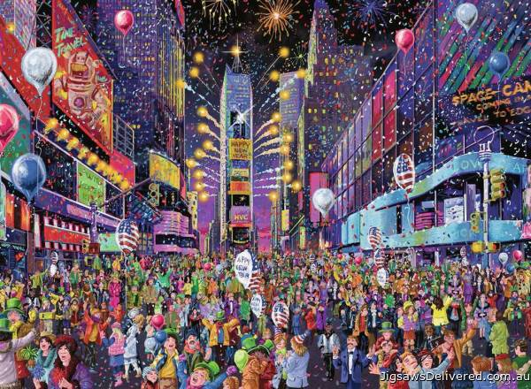 New Years in Times Square (RB16423-3), a 500 piece jigsaw puzzle by Ravensburger.