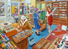 The Haberdasher (RB16413-4), a 500 piece Ravensburger jigsaw puzzle.