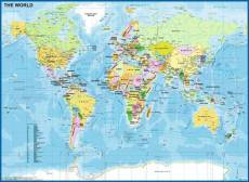 Map of the World. Click to view this product