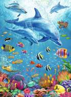 Pod of Dolphins (RB12889-1), a 100 piece Ravensburger jigsaw puzzle.