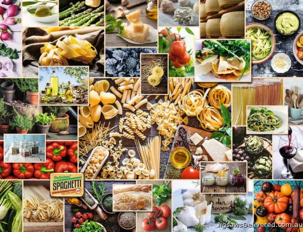 Food Collage (RB15016-8), a 2000 piece jigsaw puzzle by Ravensburger.