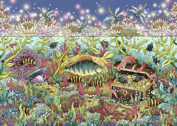 Underwater Kingdom at Dusk (RB15988-8), a 1000 piece jigsaw puzzle by Ravensburger.
