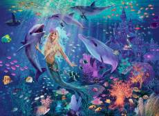 Mermaid (Brilliant Edition) (RB14993-3), a 500 piece jigsaw puzzle by Ravensburger. Click to view this jigsaw puzzle.