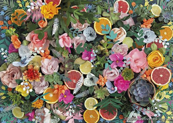 Paper Flowers (GIB066005), a 1000 piece jigsaw puzzle by Gibsons.