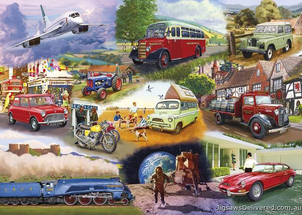Iconic Engines (GIB062939), a 1000 piece jigsaw puzzle by Gibsons.