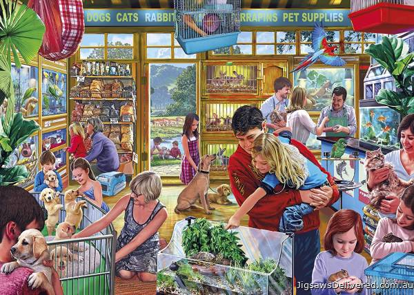 Furry Friends Pet Supplies (GIB062915), a 1000 piece jigsaw puzzle by Gibsons.