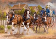 Firestorm Four (Working Legends, Large Pieces) (HOL772179), a 500 piece jigsaw puzzle by Holdson and artist Almar Zaadstra. Click to view this jigsaw puzzle.