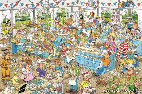 Clash of the Bakers (1500pc) (JUM19077), a 1500 piece jigsaw puzzle by Jumbo.