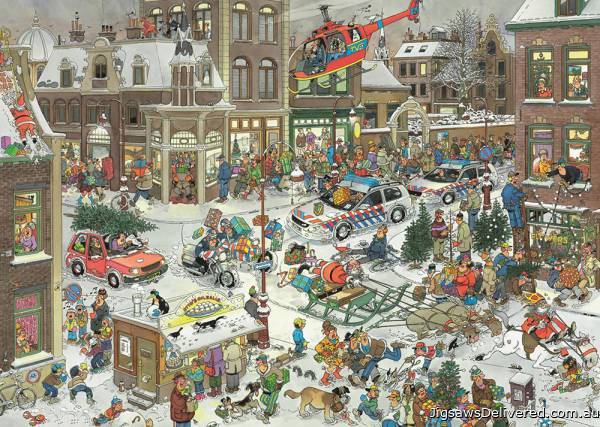 Christmas (Large Pieces) (JUM20020), a 500 piece jigsaw puzzle by Jumbo.