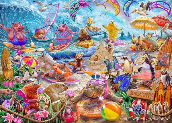 Beach Mania (Master of Mania) (HOL772100), a 1000 piece jigsaw puzzle by Holdson.