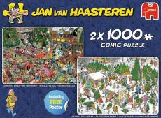 Christmas Gifts (2 x 1000pc) (JUM19080), a 1000 piece jigsaw puzzle by Jumbo and artist Jan van Haasteren. Click to view this jigsaw puzzle.