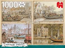 Canal Boats (JUM18855), a 1000 piece jigsaw puzzle by Jumbo and artist Anton Pieck. Click to view this jigsaw puzzle.