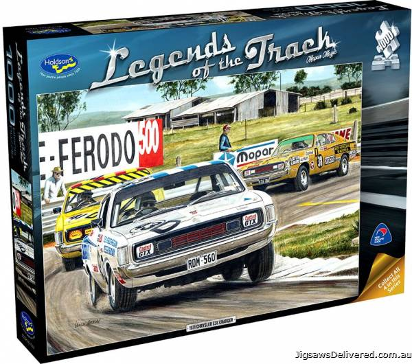 Mopar Magic (Legends of the Track) (HOL772575), a 1000 piece jigsaw puzzle by Holdson.