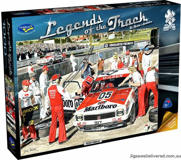Master's Apprentice (Legends of the Track) (HOL772605), a 1000 piece jigsaw puzzle by Holdson.
