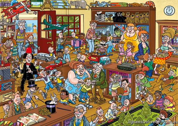 The Toy Shop! (Destiny Wasgij 20) (HOL772490), a 1000 piece jigsaw puzzle by Holdson.