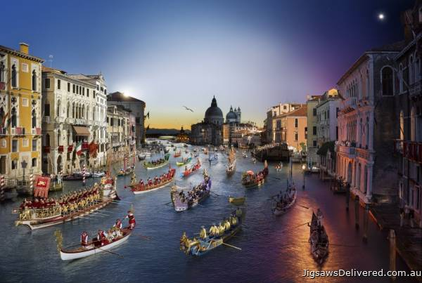 Venice (Day to Night) (CLE 10004), a 1000 piece jigsaw puzzle by Clementoni.