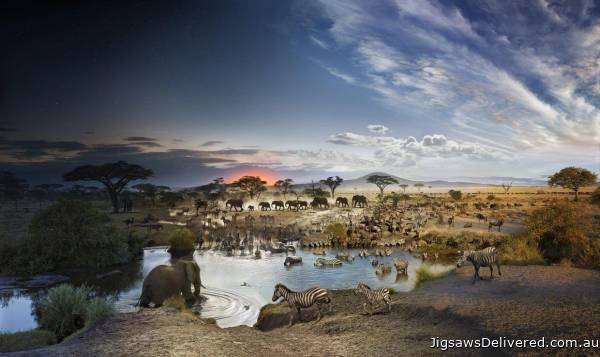 Serengeti National Park (Day to Night) (CLE 10001), a 1000 piece jigsaw puzzle by 4D Cityscape.