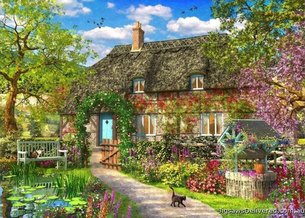 The Old Cottage (Picture Perfect) (HOL772261), a 1000 piece jigsaw puzzle by Holdson.