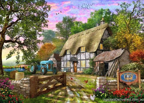 Farm Cottage (Picture Perfect) (HOL772254), a 1000 piece jigsaw puzzle by Holdson.