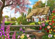 Country Cottage Way (Picture Perfect) (HOL772247), a 1000 piece jigsaw puzzle by HoldsonArtist Dominic Davison. Click to view this jigsaw puzzle.