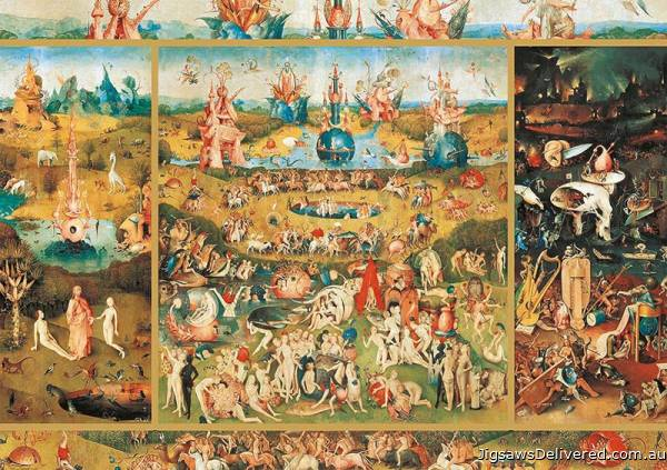 The Garden of Earthly Delights (EDU18505), a 2000 piece jigsaw puzzle by Educa.