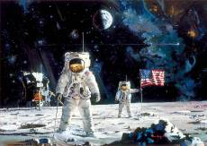Apollo 11 Moon Landing (EDU18459), a 1000 piece Educa jigsaw puzzle.
