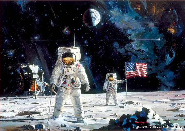 First Men on the Moon (EDU18459), a 1000 piece jigsaw puzzle by Educa.