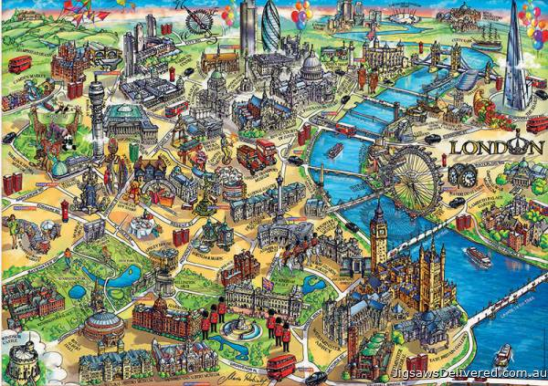 London Map (EDU18451), a 500 piece jigsaw puzzle by Educa.