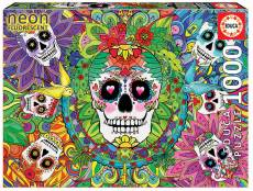 Sugar Skulls (Glow in the Dark) (EDU17975), a 1000 piece Educa jigsaw puzzle.