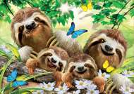 Sloth Family Selfie (EDU18450), a 500 piece jigsaw puzzle by Educa. Click to view this jigsaw puzzle.