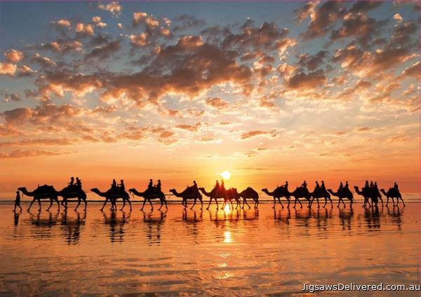 Sunset at Cable Beach, Australia (EDU18492), a 1000 piece jigsaw puzzle by Educa.