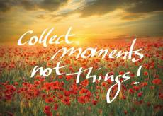 Collect Moments, Not.... Click to view this product