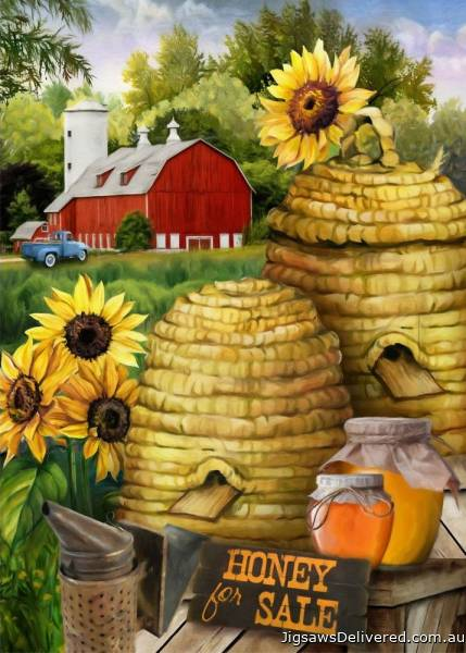 Honey For Sale (Large Pieces) (HOL772964), a 500 piece jigsaw puzzle by Holdson.