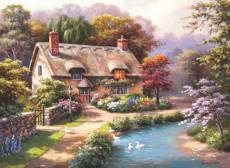 Duck Path Cottage (ANA1047), a 1000 piece Anatolian jigsaw puzzle.
